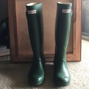 Green Hunter Boots - Size 6